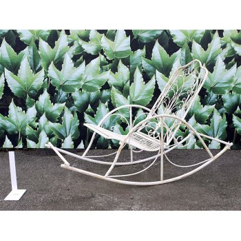 Garden Iron Rocking Chair