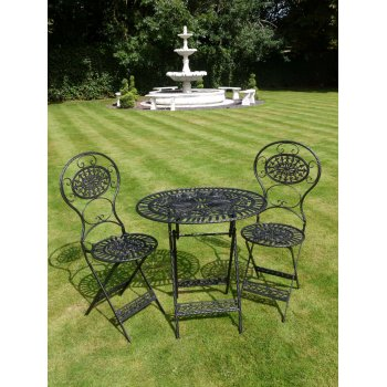 Black 2 Seater Bistro Set/Patio Set