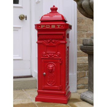 Red Free Standing Mailbox / Lockable Letterbox
