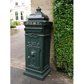 Green Post Box / Free Standing Mailbox
