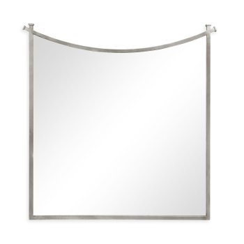 Jonathan Charles Furniture Designer Silver Wall Mirror With Inverted Arch