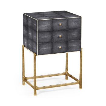 Jonathan Charles Furniture Art Deco Chest of Drawers, Leather