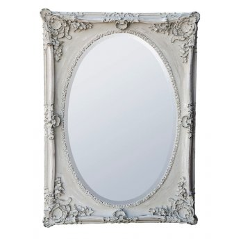 Shabby Chic Grey Mirror