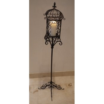 Tall Candle Holder/Iron Lantern on Stand