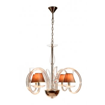 Villa Lumi Lighting Shaded Glass Chandelier Lisbon to Monaco