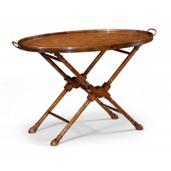 Jonathan Charles Furniture Walnut Tray Table/Butler Tray