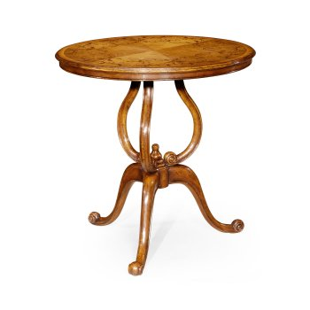 Jonathan Charles Furniture Walnut Round Side Table