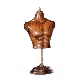 Jonathan Charles Furniture Wooden Mannequin Torso on Stand, Ornament