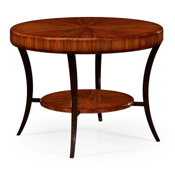 Jonathan Charles Furniture Art Deco Round Centre Table, High Lustre