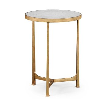 Jonathan Charles Furniture Glass Round Side Table, Gold
