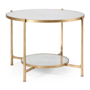 Jonathan Charles Furniture Glass Gilded Iron Round Table