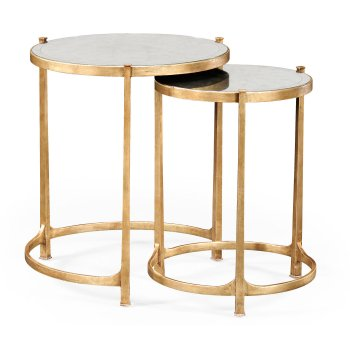 Jonathan Charles Furniture Nest of Mirrored Tables, Gold