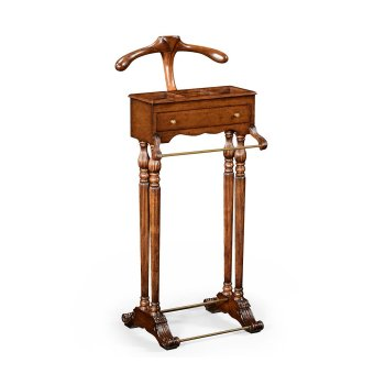 Jonathan Charles Furniture Clothes Valet Stand with Drawer, Walnut