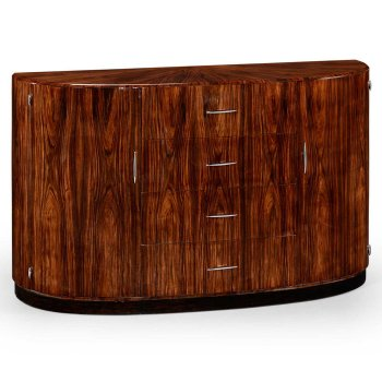Jonathan Charles Furniture Art Deco Demilune Sideboard, High Lustre