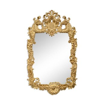 Jonathan Charles Furniture Carved Gold Rococo Style Mirror