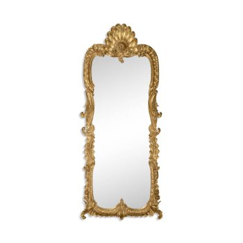 Jonathan Charles Furniture Tall Carved Gold Rococo Style Mirror