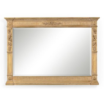 Jonathan Charles Furniture Gold Overmantle Mirror Empire Style