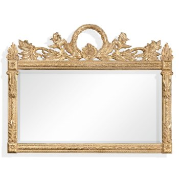 Jonathan Charles Furniture Overmantle Mirror Gold Ornate French Style