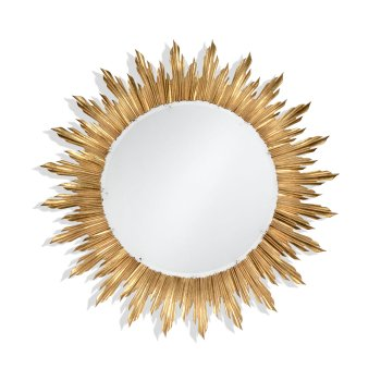 Jonathan Charles Furniture Large Gilded Sunburst Mirror
