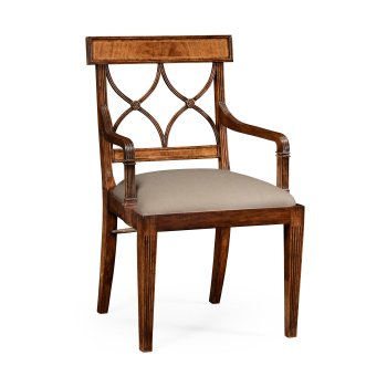 Jonathan Charles Furniture Regency Walnut Dining Armchair
