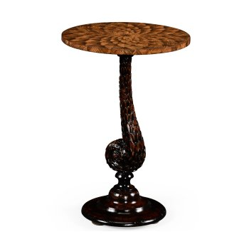 Jonathan Charles Furniture Carved Side Table Pangolin