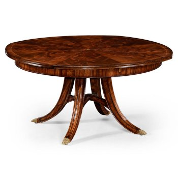 Jonathan Charles Furniture 8-10 Seater Round Extending Dining Table 59'', Mahogany