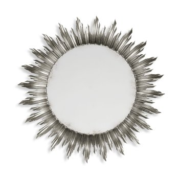 Jonathan Charles Furniture Designer Large Silver Sun Mirror