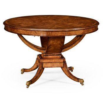 Jonathan Charles Furniture 6-Seater Round Dining Table, Walnut