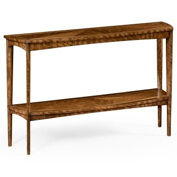 Jonathan Charles Furniture Narrow Console Table with Shelf