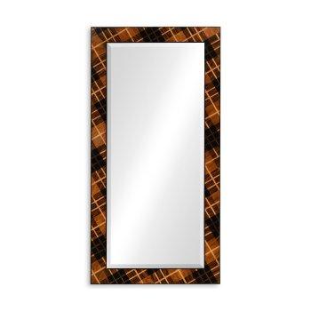 Jonathan Charles Furniture Floor Standing Mirror With Tartan Inlays
