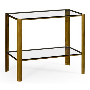 Jonathan Charles Furniture Glass Sofa Table in Modernist Style