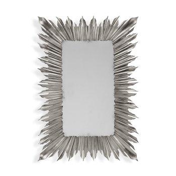 Jonathan Charles Furniture Silver Rectangular Sunburst Mirror
