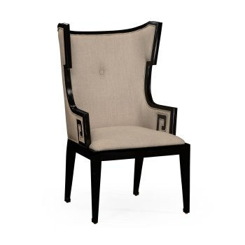 Jonathan Charles Furniture Designer Dining Armchair, Wing Chair