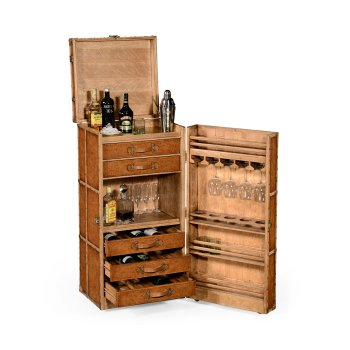 Jonathan Charles Furniture Drinks Cabinet In Travel Trunk Style