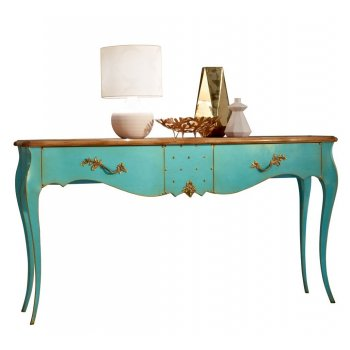 AM Classic Furniture French Blue Painted Console Table