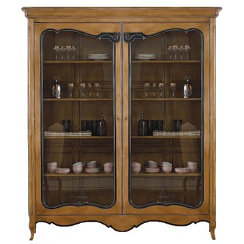 AM Classic Furniture French Display Cabinet/Bookcase, Louis XV