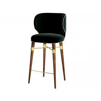 Louis Velvet Bar Chair Designer Bar Chair Swanky Interiors