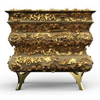 Boca Do Lobo Furniture Crochet Luxury Nightstand/Designer Bedside Chest
