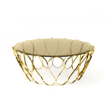 Boca Do Lobo Furniture Aquarius Glass Coffee Table/Luxury Coffee Table, Gold