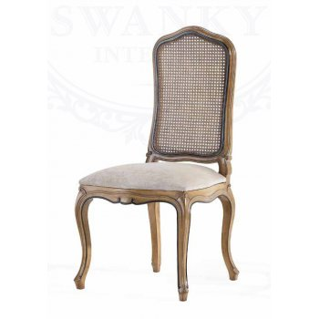 AM Classic Furniture Rattan Dining Chair, Louis XV