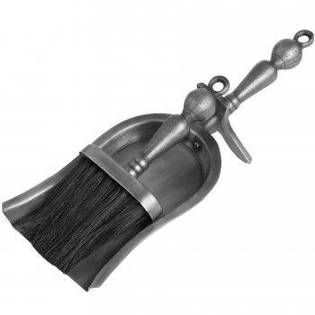 Silver Hearth Tidy Set/Shovel & Brush Set