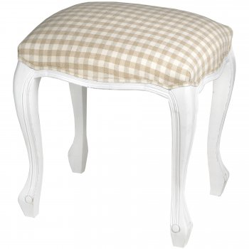 French White Dressing Table Stool