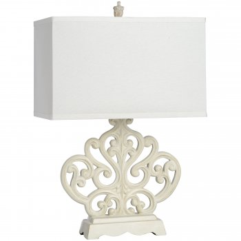 French Country Table Lamp, Rectangular
