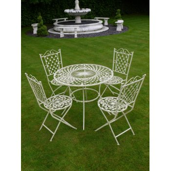 White 4 Seater Dining Set/Patio Set