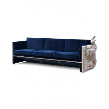 Boca Do Lobo Furniture Luxury Versailles Sofa/Designer Sofa, Blue