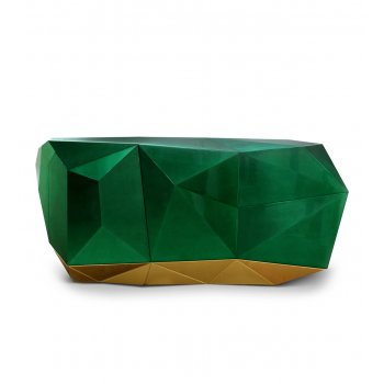 Boca Do Lobo Furniture Luxury Sideboard/Limited Edition Diamond Emerald Sideboard
