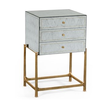 Jonathan Charles Furniture Tall Mirrored Chest of Drawers