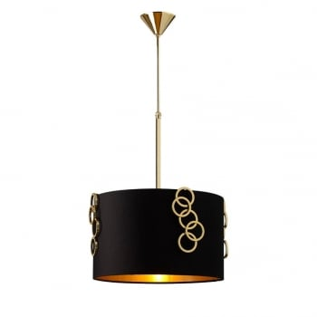 Villa Lumi Lighting Ceiling Pendant Genova, Black Shade