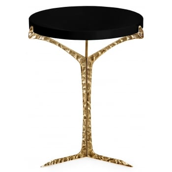 Insidherland Furniture Brass Side Table, Black Lacquered / Alentejo