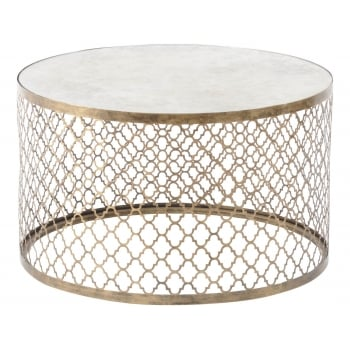 Mirrored Coffee Table, Round / Mirrored Furniture